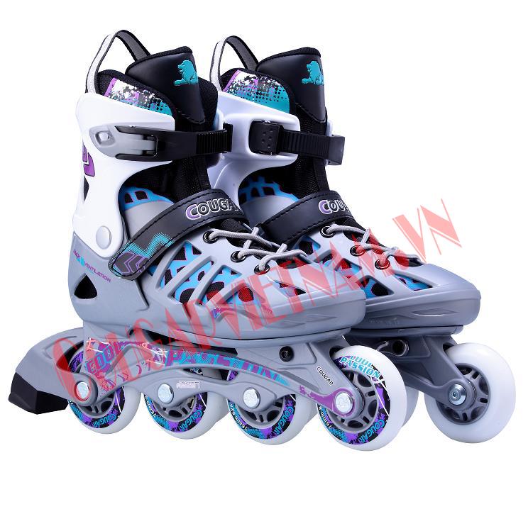 Giầy trượt patin Cougar dòng 308N - Ghi